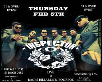Inspector In Corona California 21 & over event door 8 p.m.: Main Image