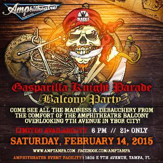 Gasparilla Knight Parade Balcony Party: Main Image