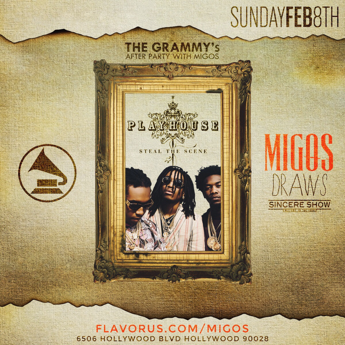 Migos Grammy Party at Playhouse in Hollywood Tickets 02/08/15