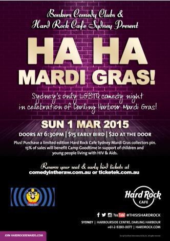 HA HA Mardi Gras @ Hard Rock Cafe: Main Image