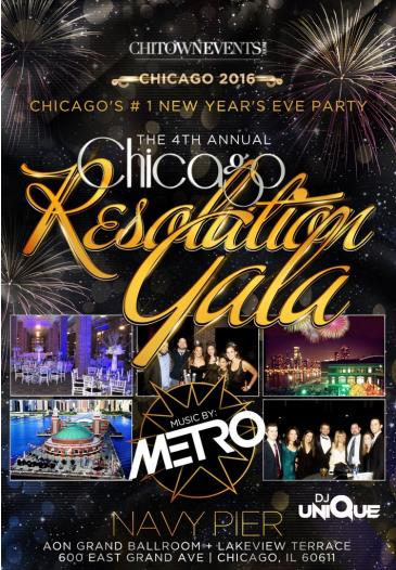 The 4th Annual Chicago Resolution Gala at Grand Ballroom