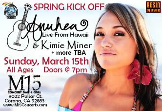 Anuhea & Kimie Spring Kick Off at M15 in Corona: Main Image