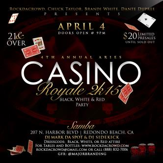4th Annual Aries Casino Royale 2k15.... Red, Black, & White: Main Image