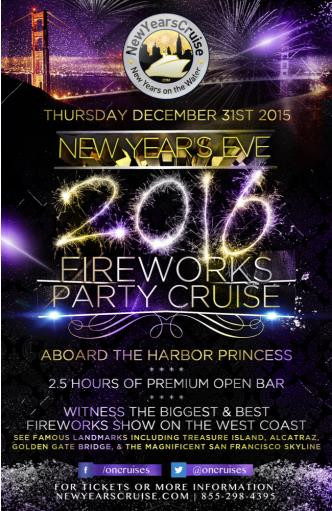 New Year's Eve Fireworks Party Cruise - Harbor Princess