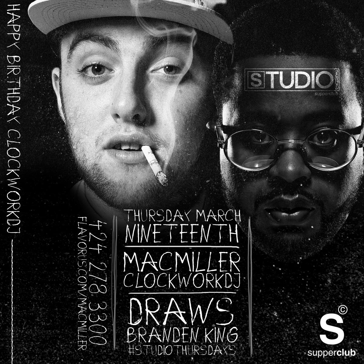 Mac Miller + ClockworkDJ live at Supperclub Tickets 03/19/15
