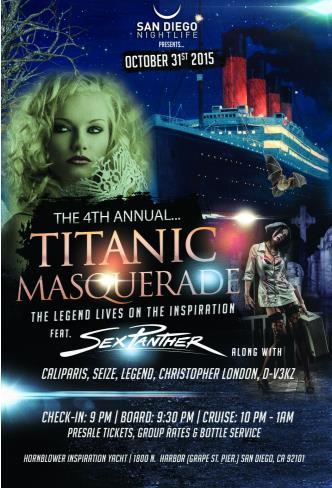 Pier Pressure SD Halloween - 4th Annual Titanic Masquerade