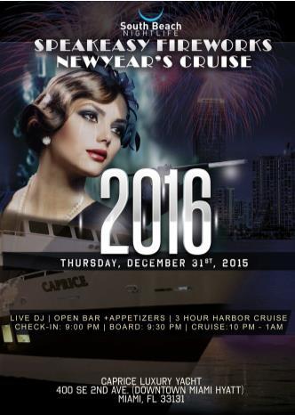 Speakeasy Fireworks Miami Cruise 2016