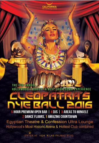 7th Annual Cleopatra's 2016 New Years Eve Ball