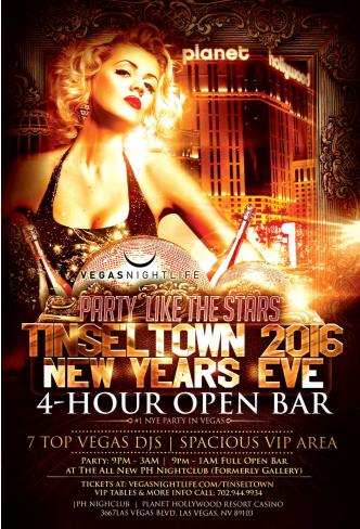 Tinseltown New Years Eve 2016