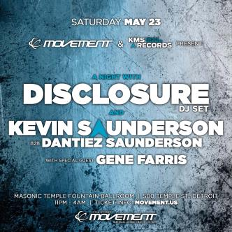A Night With Disclosure (DJ set) and Kevin Saunderson: Main Image