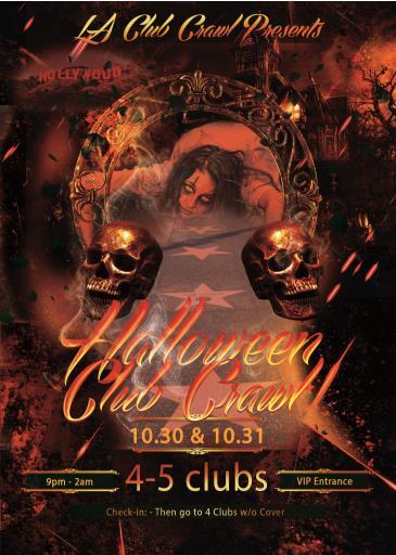 Halloween LA Club Crawl - 4 Club VIP Pass