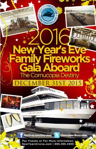 2016 New Year's Eve Family Fireworks Gala Cornucopia Destiny