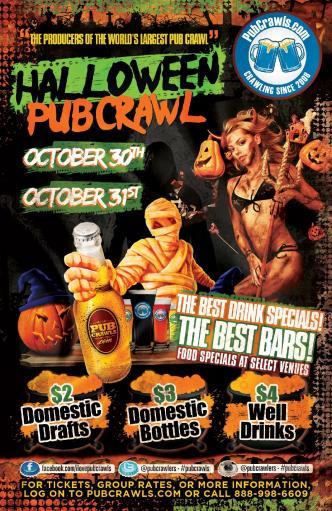 Happy Hour Halloween PubCrawl Philadelphia