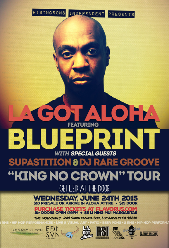 La got aloha blueprintking no crown tour tickets 062415 la got aloha blueprint king no crown tour thumb image 3 malvernweather Choice Image