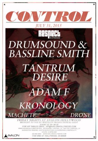 Drumsound & Bassline Smith, Tantrum Desire, Adam F, Krono...: Main Image