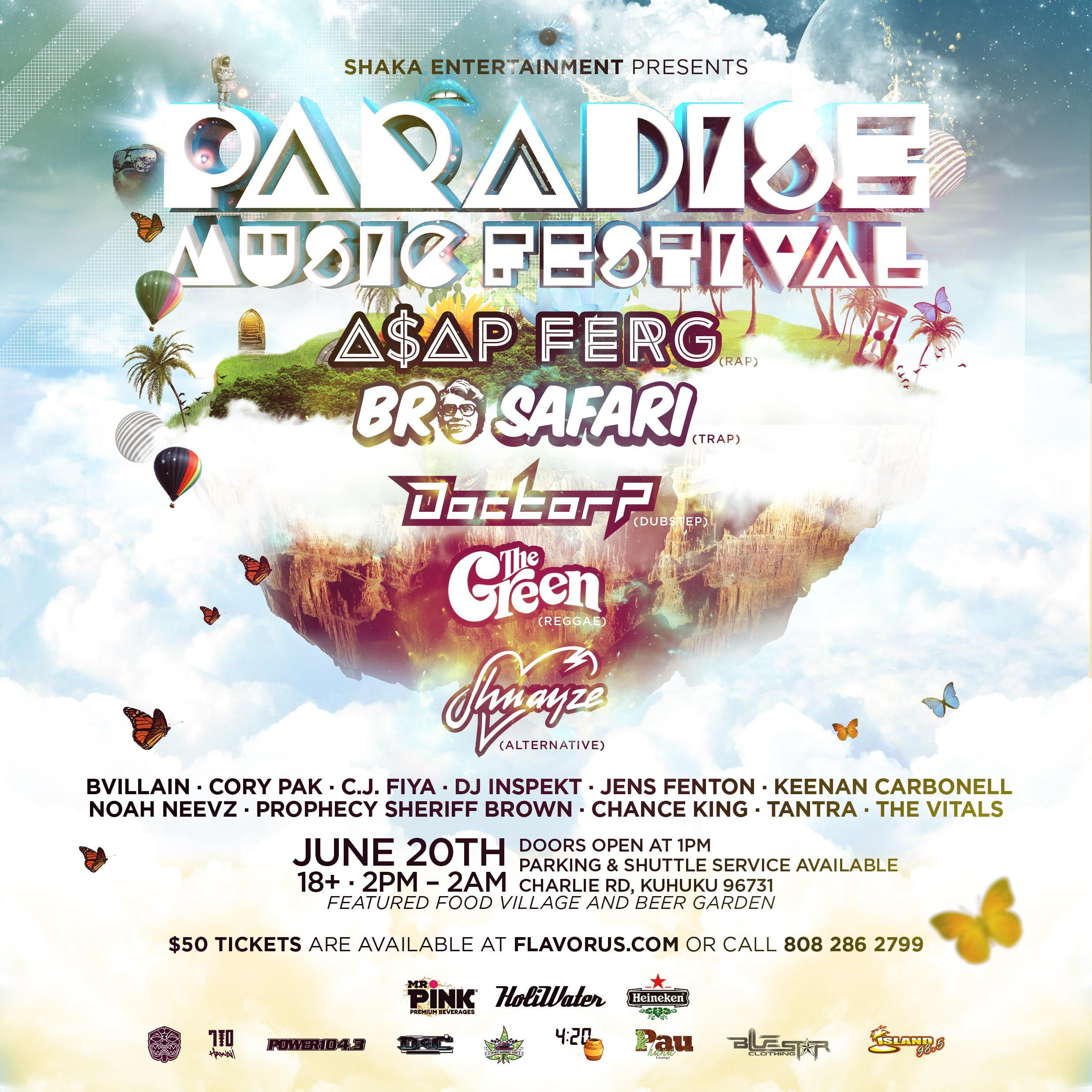 Paradise Music Festival Tickets 06/20/15