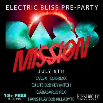 BASS MISSION: ELECTRIC BLISS PRE-PARTY 18+ FREE BEFORE 11PM-img