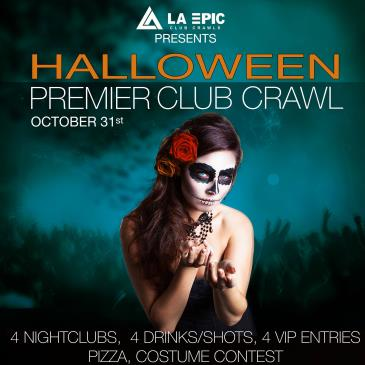Halloween VIP Club Crawl in Hollywood, Los Angeles