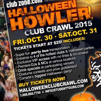 Calgary Halloween Club Crawl - OCT 31 Evening Crawl