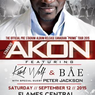Akon feat Karl Wolf @ Flames Central