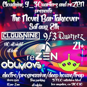 CloudNIne , 9_3Quarterz & reZEN Presents The Novel Bar-img