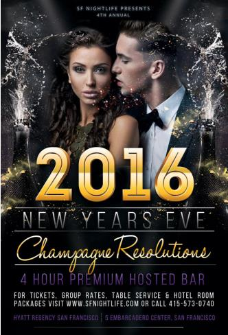 Champagne Resolutions New Year's Eve 2016