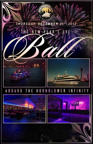 2016 New Year's Eve Ball aboard the Infinity Yacht