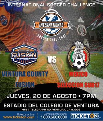 Ventura County Fusion VS Mexico Seleccion Sub 17: Main Image