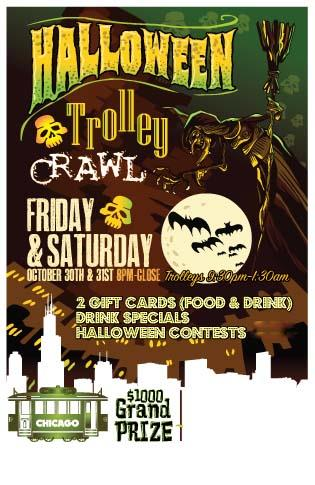 Halloween Trolley Bar Crawl 2015 Chicago 2 Night Event