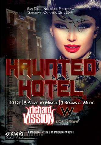 Haunted W San Diego Halloween w/ Richard Vission