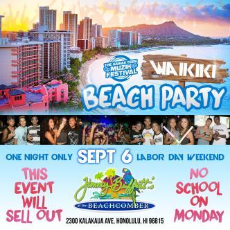 #HTMF Waikiki Beach Party: Main Image