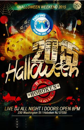 Oct 29 Hoboken Bar & Grill Hoboken Halloween