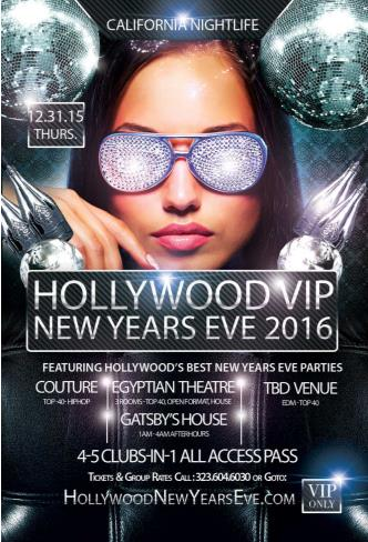 7th Hollywood VIP New Years - 4 Party All Access Pass