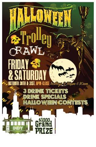 Halloween Trolley Bar Crawl - Indianapolis 2 Night Event
