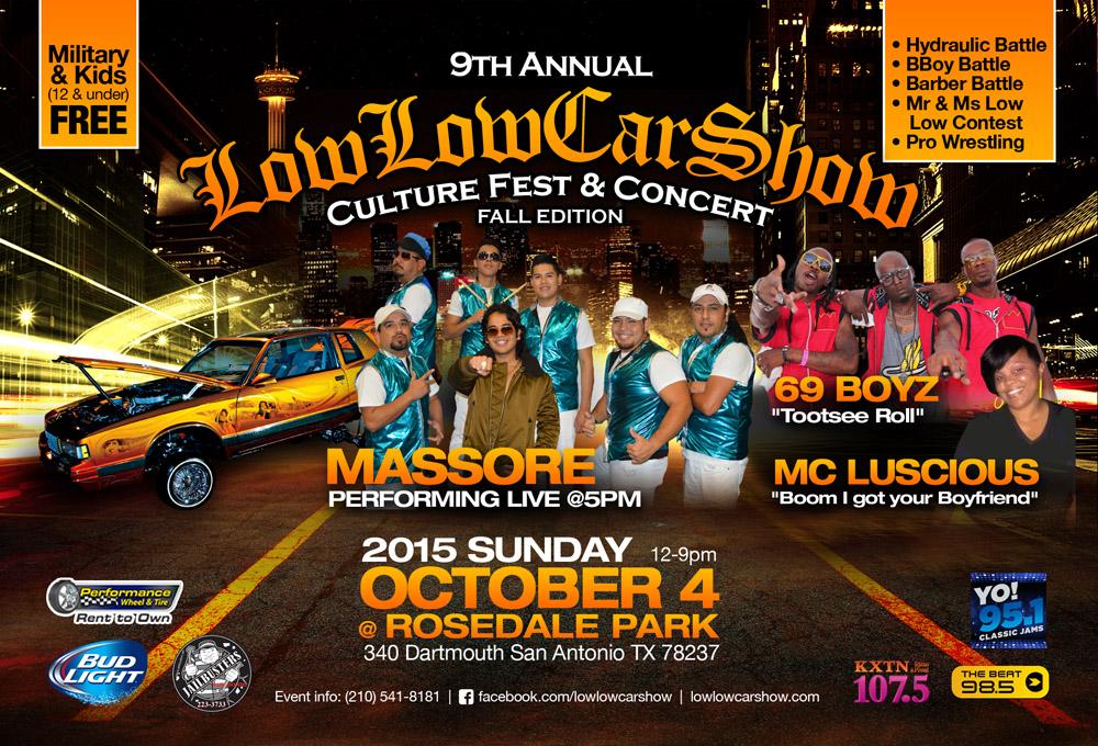 Low Low Car Show Concert Tickets - Car show in san antonio tx