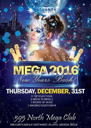 Mega Atlanta New Years Eve Countdown 2016