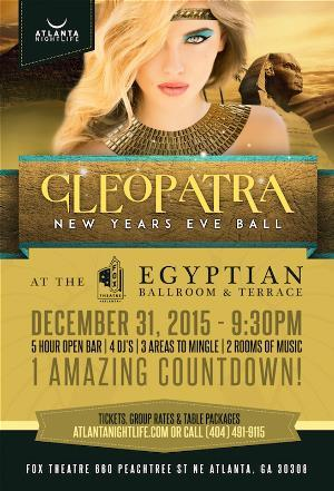 3rd Annual Cleopatra's 2016 New Years Eve Ball