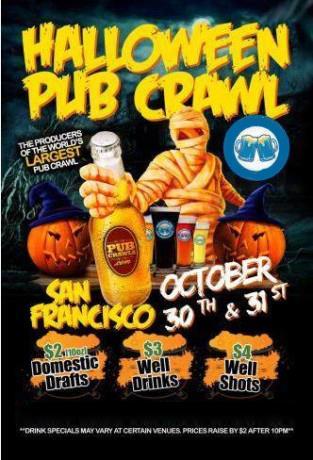 SF Halloween Pub Crawl 10/31