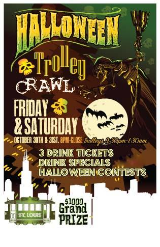 Halloween Trolley Bar Crawl - St. Louis 2 Night Event
