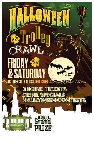 Halloween Trolley Bar Crawl - Kansas City 2 Night Event