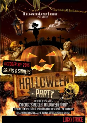 Saints and Sinners Halloween at Lucky Strike Chicago