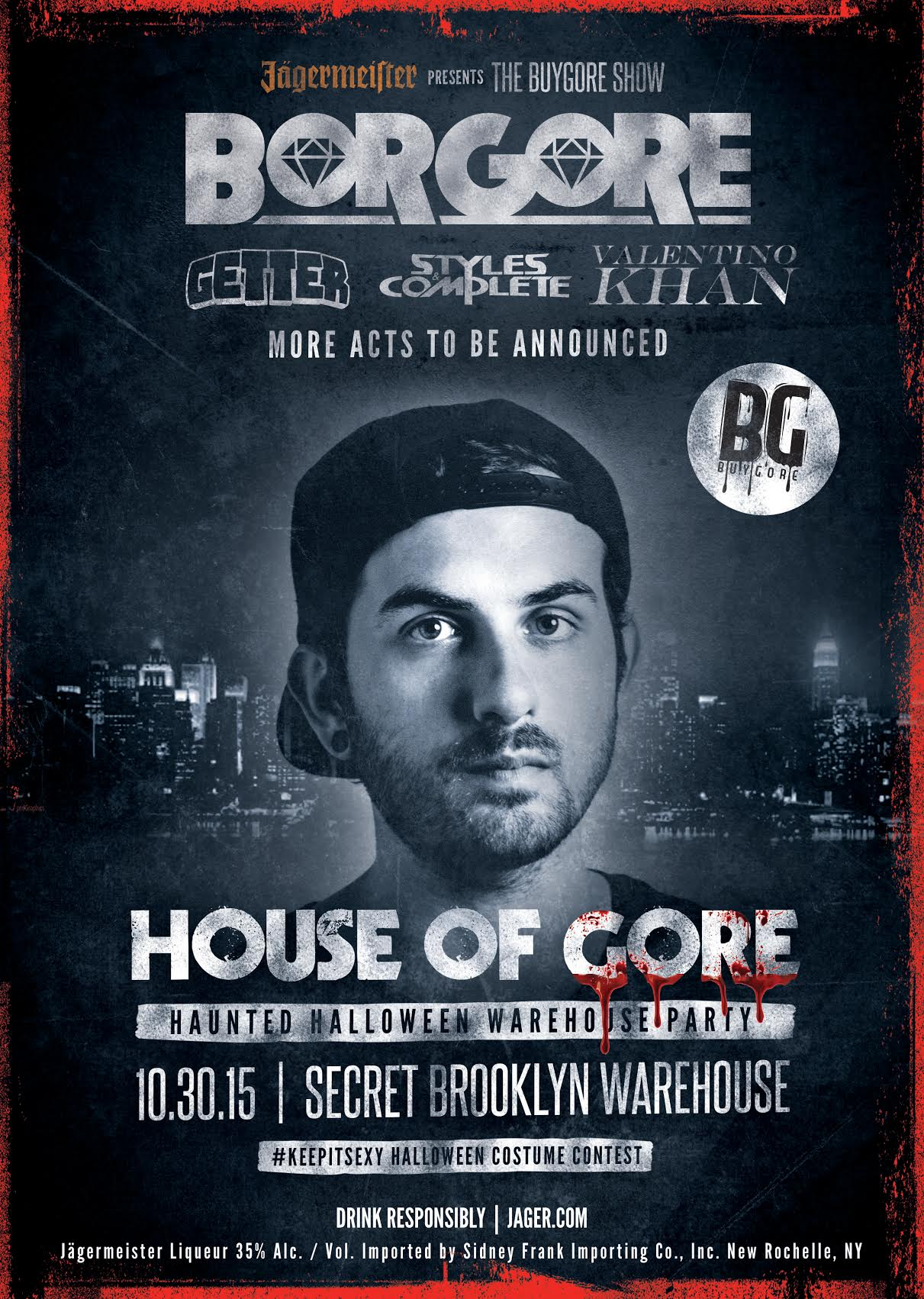 BORGORE, GETTER, STYLES & COMPLETE, VALENTINO KHAN Tickets 10/30/15