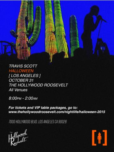 Halloween at The Hollywood Roosevelt Travis Scott Live: Main Image