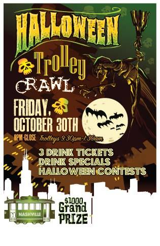 Halloween Trolley Bar Crawl - Nashville