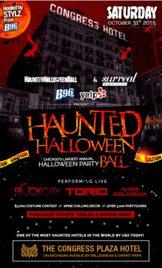 The Haunted Hotel Halloween Ball w/ B96 Chicago & Yelp