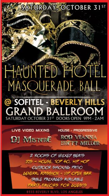 HAUNTED HOTEL MASQUERADE BALL