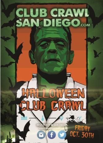 San Diego Halloween Club Crawl