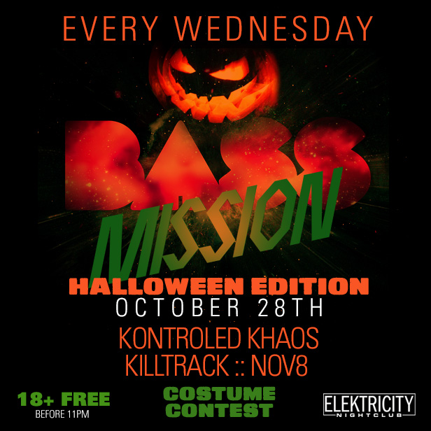 Bass Mission Halloween Edition 18 Free Before 11pm