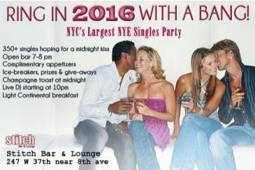 NYC's Hottest New Year's Eve Singles Party For Singles 21-45