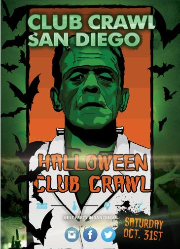 Halloween Club Crawl to Parq